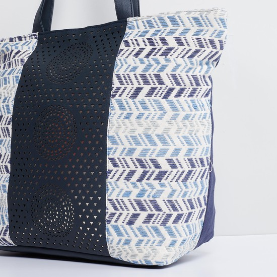 MAX Embroidered Laser cut Tote Bag