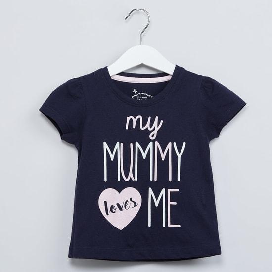 MAX Mummy Graphic Print Cap Sleeves Top