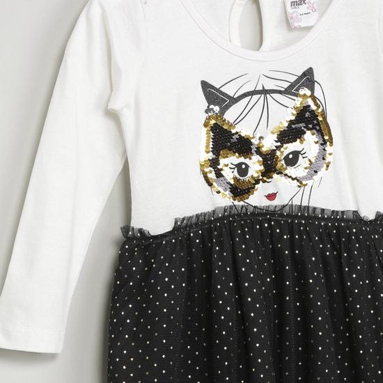MAX Printed Polka-Dot Dress