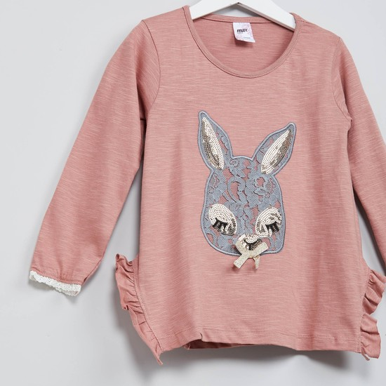 MAX Lacy Bunny Ruffled Top