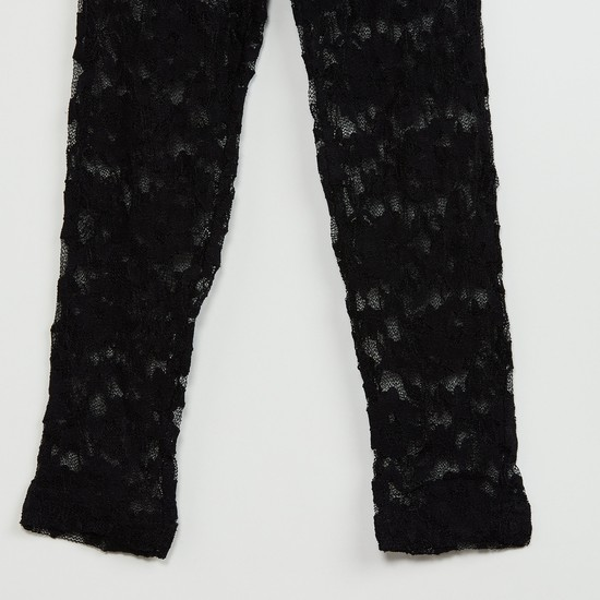 MAX Semi-Sheer Lace Leggings