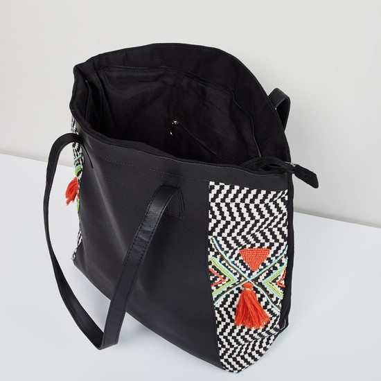 MAX Embroidered Tote Bag with Flat Handles