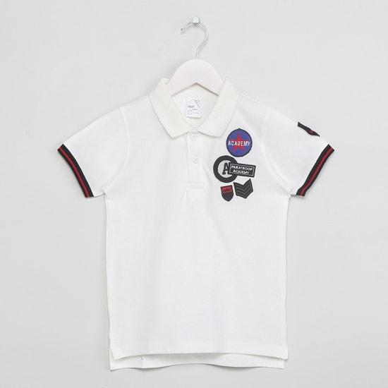 MAX Graphic Applique Polo T-shirt