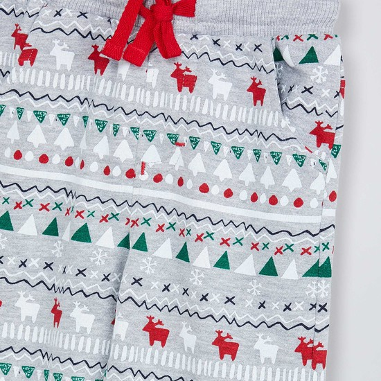 MAX Christmas Print Knitted Joggers