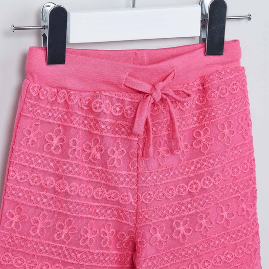 MAX Floral Lacy Shorts