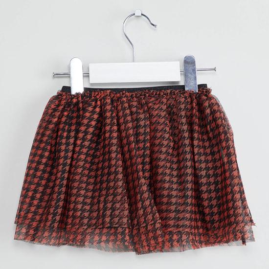 MAX Printed Rose Applique Detail Skirt
