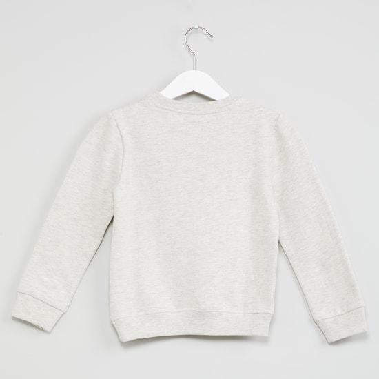 MAX Owl Applique Long Sleeves Sweatshirt