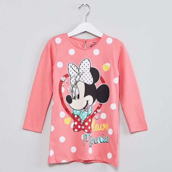 MAX Minnie Mouse Print Long Sleeve Top