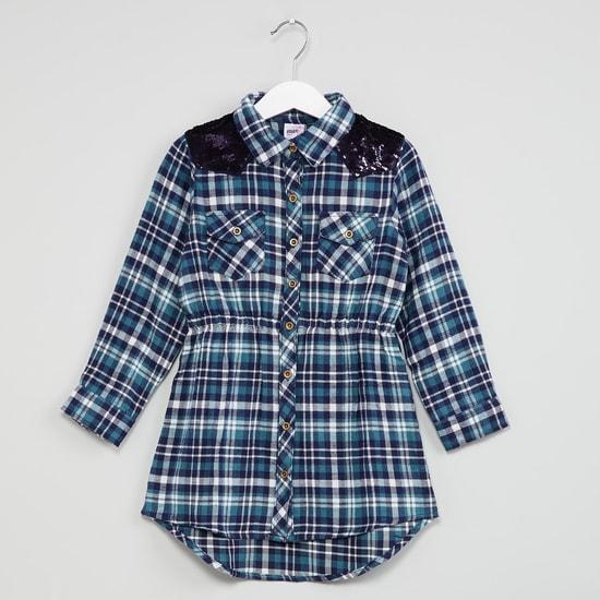 MAX Printed Elasticated Waist Shirt Dress