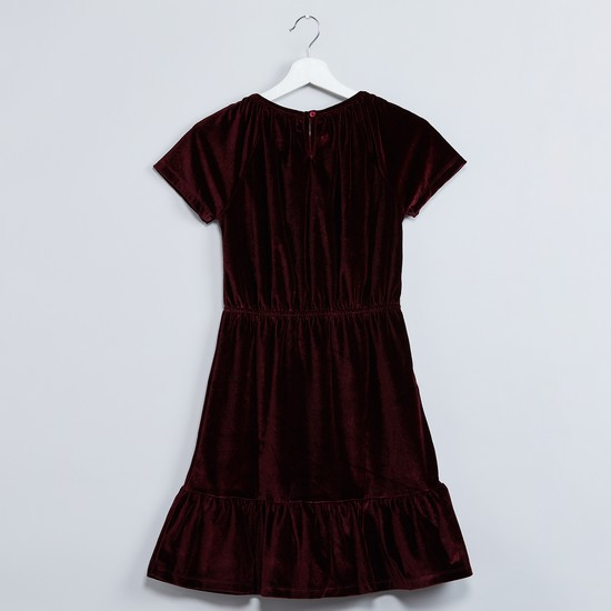 MAX Solid Panelled Dress