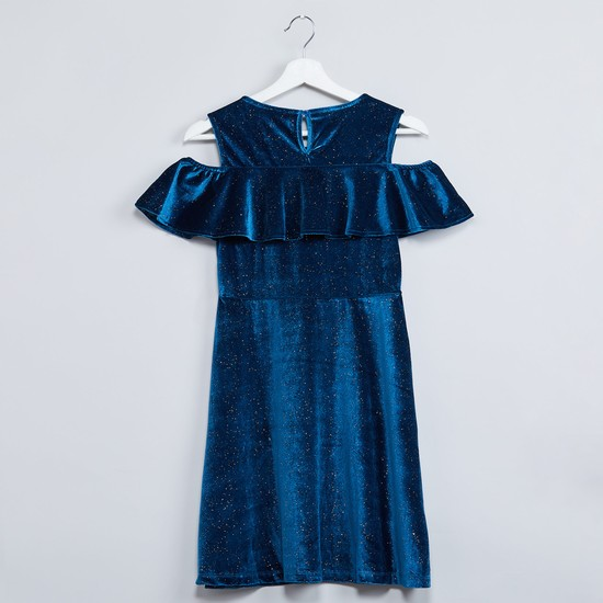 MAX Ruffle Layer Shimmery Party Dress