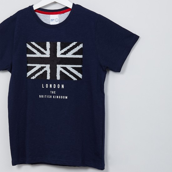 MAX London Print Crew Neck T-shirt
