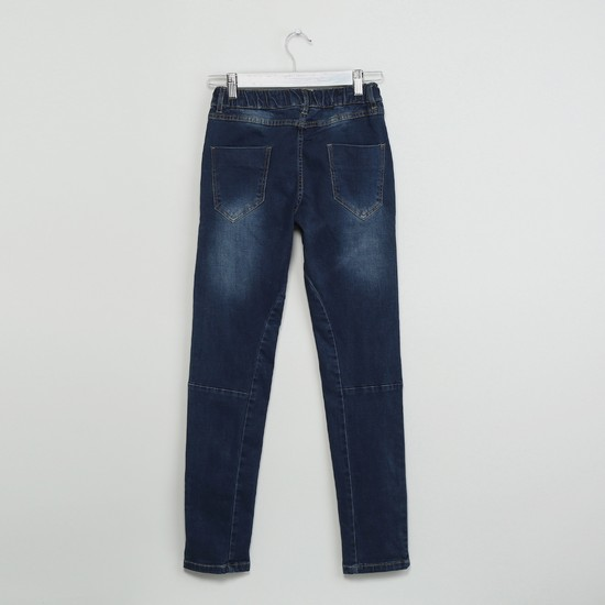 MAX Stitch Detail Washed Jeans