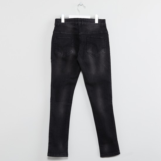 MAX Patchworked Low-Rise Slim Fit Jeans