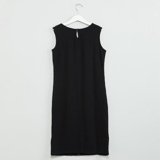MAX Textured Shimmer Trim Dress