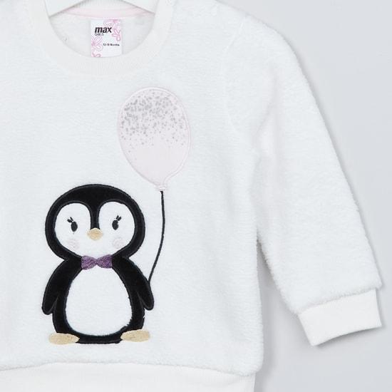 MAX Penguin Applique Sweatshirt