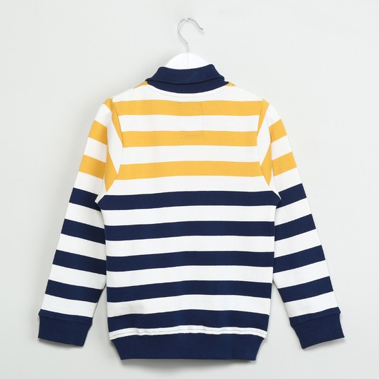 MAX Striped Collared Sweatshirt