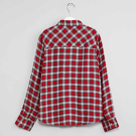 MAX Checked Pearl Detailed Shirt