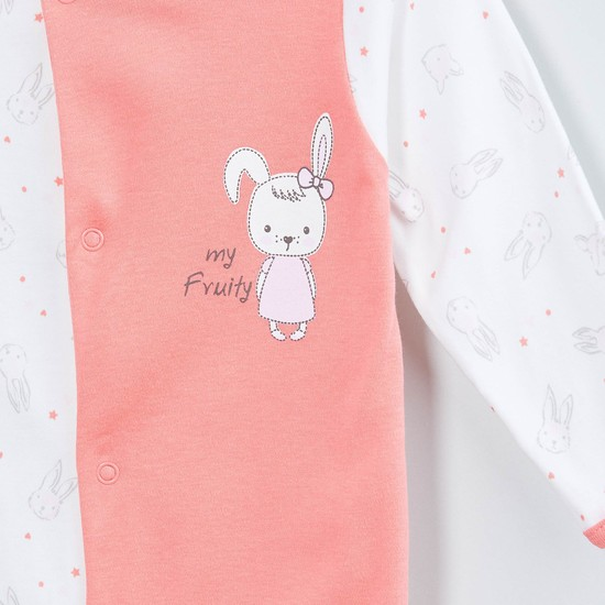 MAX Printed Buttoned Full-Length Sleepsuit
