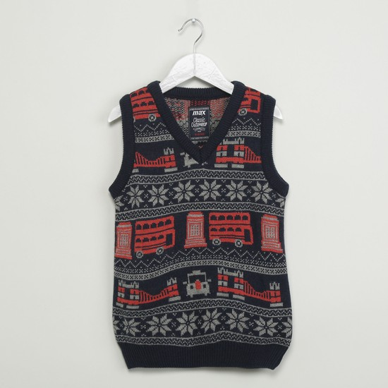 MAX Patterned Sweater Vest
