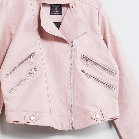 MAX Zip-Up Biker Jacket