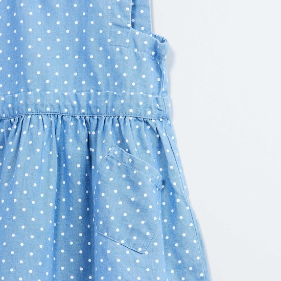 MAX Polka Print Peterpan Collar Dress