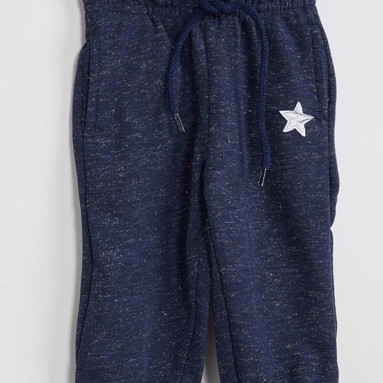 MAX Star Print Speckled Joggers