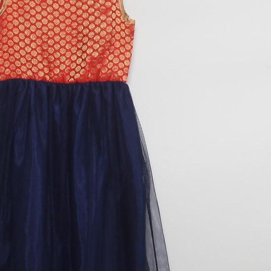 MAX Foil Print Sleeveless Maxi Dress