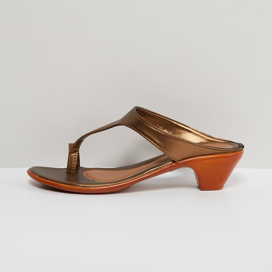 MAX Sheen Strap Toe-Holder Heels
