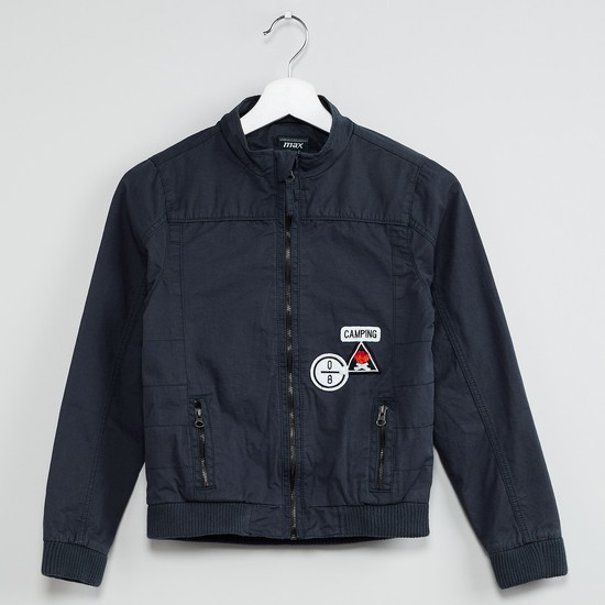 MAX Patchworked Zip-Up Jacket