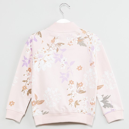 MAX Pretty Printed Zip-up Sweatshirt