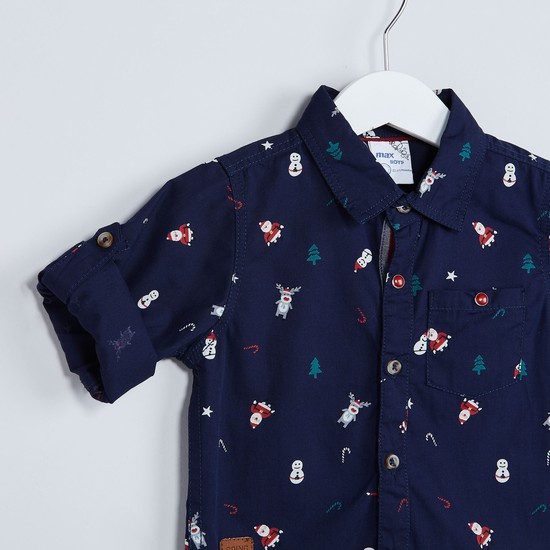 MAX Roll-Up Tab Printed Shirt