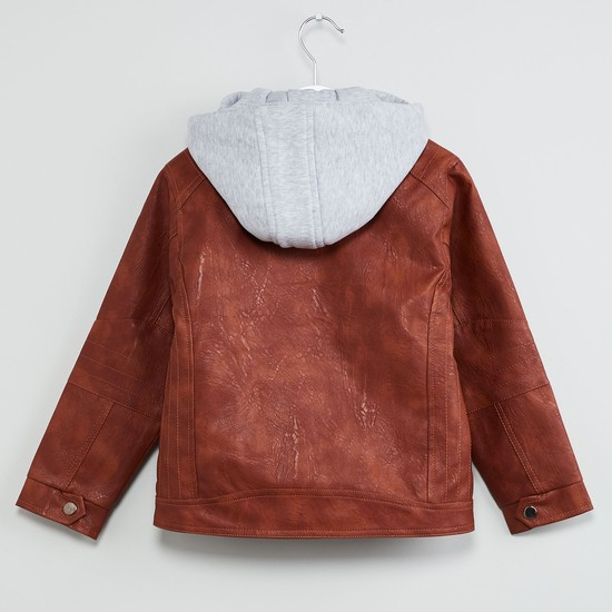 MAX Solid Hooded Zip-Up Jacket