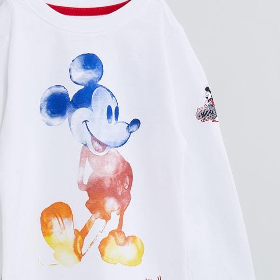 MAX Mickey Mouse Print Long Sleeve T-shirt