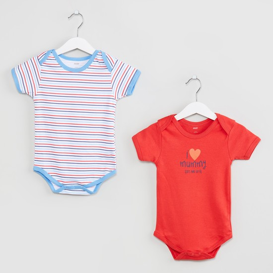 MAX Short Sleeves Buttoned Bodysuit- Set of 2