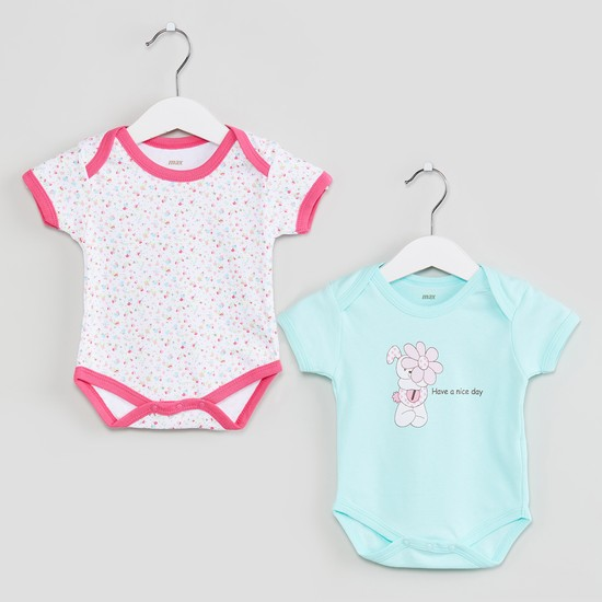 MAX Printed Buttoned Bodysuit- Set of 2