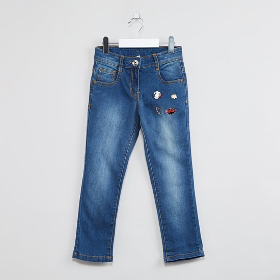 MAX Patchworked Low Rise Slim Fit Jeans