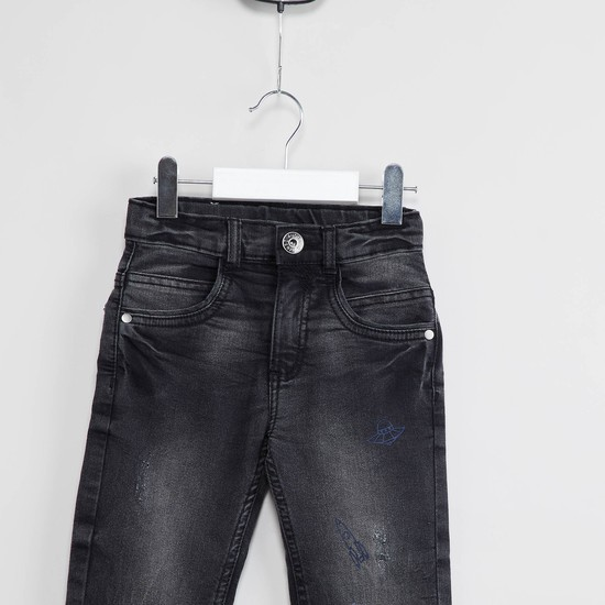 MAX Distressed Low Rise Jeans