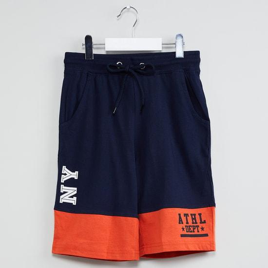 MAX Typographic Print Colourblock Shorts
