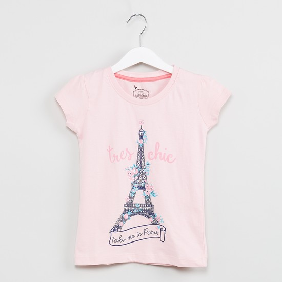 MAX Eiffel Tower Print T-shirt