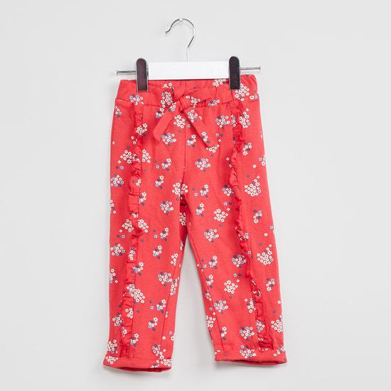 MAX Upturned Hems Floral Print Pants