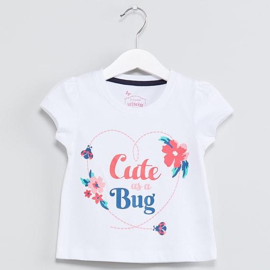 MAX Cute Bug Cap Sleeves Top