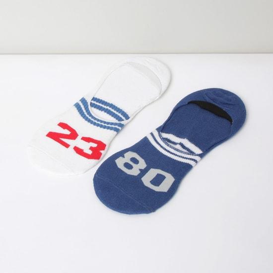 MAX Patterned No-Show Socks - Set of 2