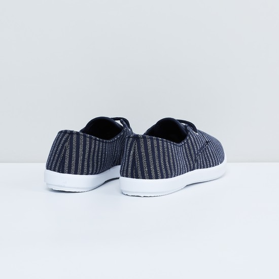 MAX Striped Shoes with Lace Detailing