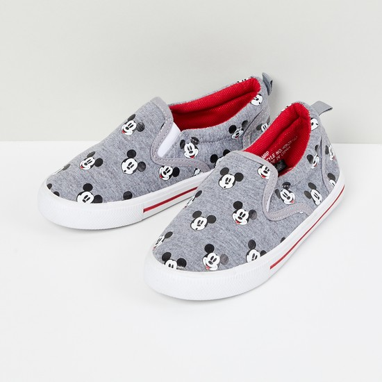 MAX Mickey Mouse Print Slip-On Shoes