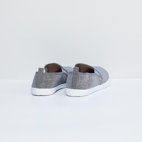 MAX Textured Canvas Slip-Ons