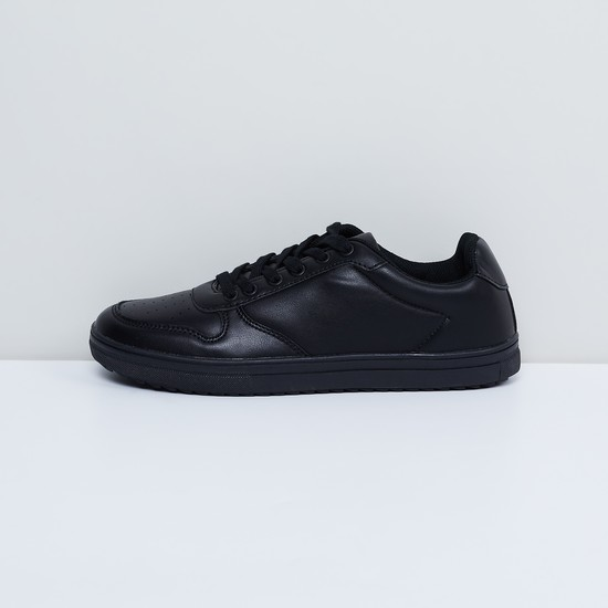 MAX Solid Shoes with Lace-Up Detailing
