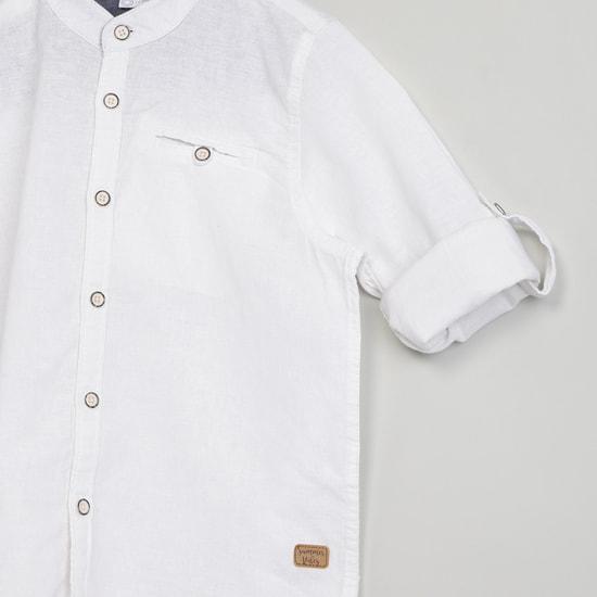 MAX Mandarin Collar Long Sleeve Shirt