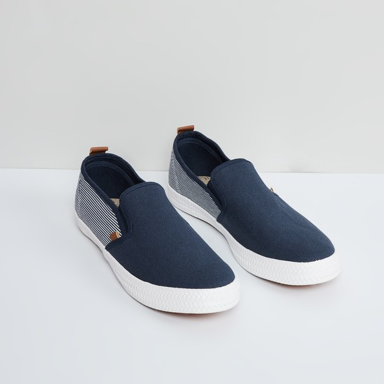 MAX Nautical Stripes Slip-On Shoes