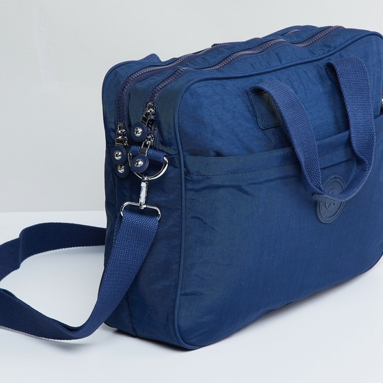 MAX Textured Messenger Laptop Bag